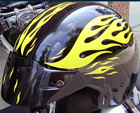 Streetglo Helmet Flame Decals Or Reflective Decal Including Our - Reflective helmet decals
