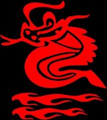 fire breathing dragon decals