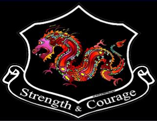 dragon strength and courage decal