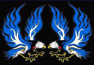 Flaming Eagle Reflective Decal