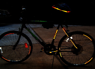 Streetglo reflective bicycle helmet decals and reflective ...