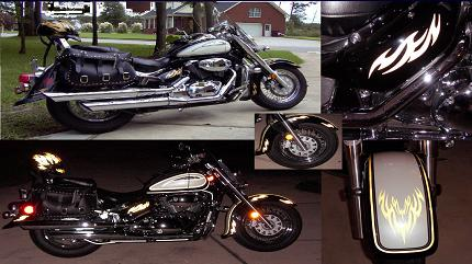 Reflective decals motorcycle graphics flame decals kits.
