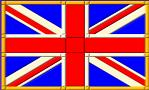 union jack flag trimmed in gold