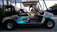 Golf Cart and Buggy reflective decals and graphics set Custom Golf Cart Pinstriping Designs on custom pinstriping by hot dog, custom pinstriping stencils, custom truck pinstriping,