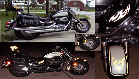 Biker Motorcycle Graphics and Tank Flame kits