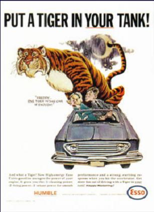 Esso - put a tiger in your tank HOME PAGE