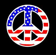 american peace sign stars and stripes