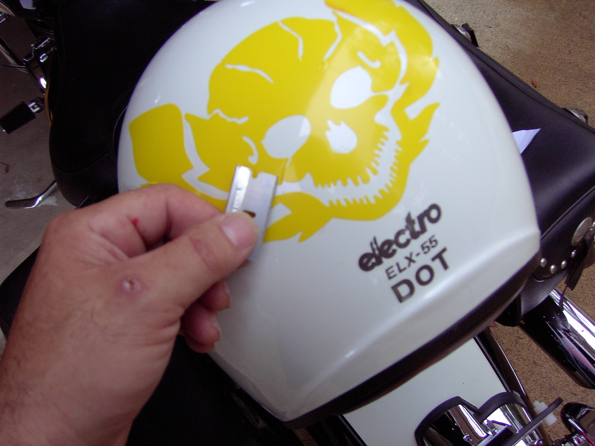Installing Decals On Cars Trucks And Motorcycles Installing - Helmet custom vinyl stickers