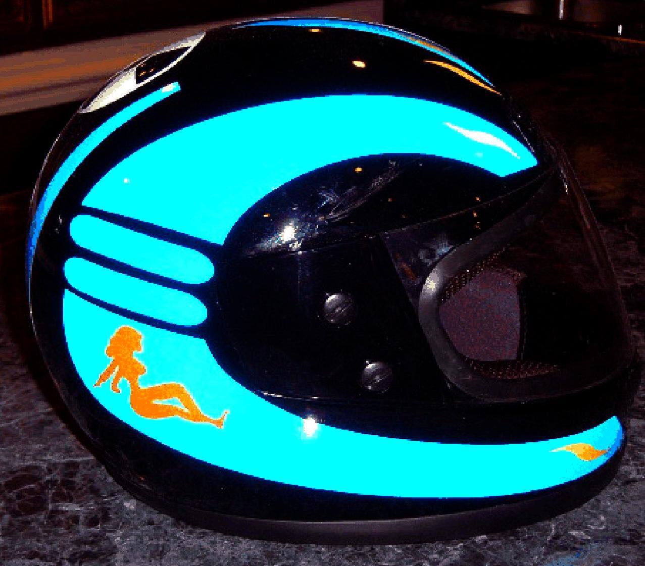 Reflective Motorcycle Helmet Graphics Helmets - Reflective helmet decals