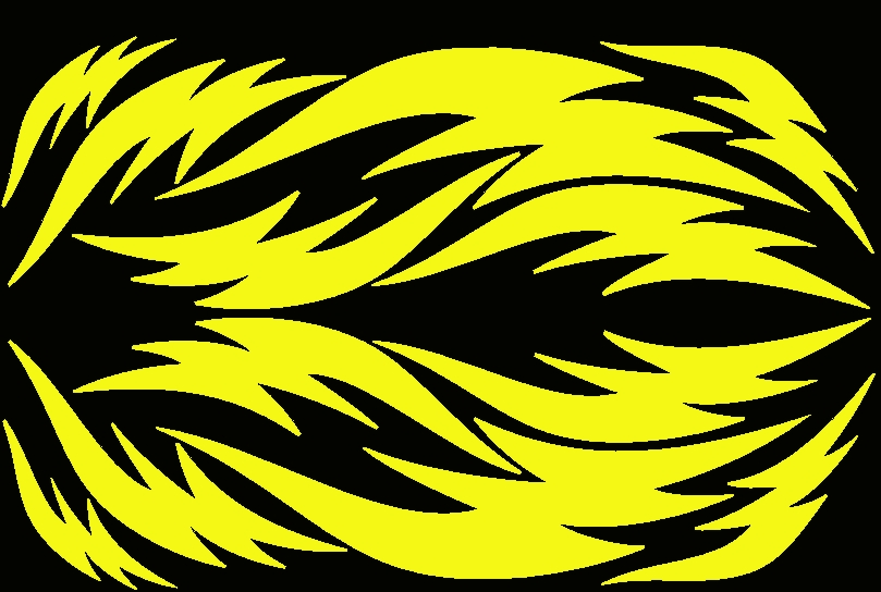 Streetglo Reflective Helmet Flame Decal And Helmet Flame Decal - Reflective helmet decals
