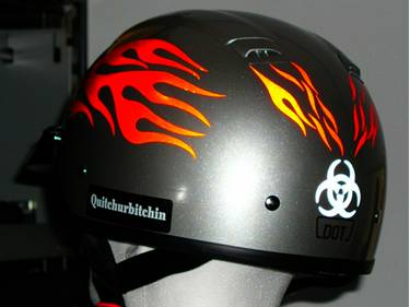 Streetglo Reflective Helmet Flame Decal And Helmet Flame Decal - Motorcycle helmet decals kits