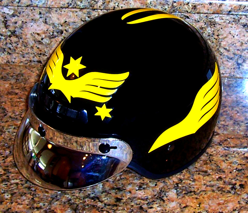 Streetglo Reflective Helmet Flame Decal And Helmet Flame Decal - Custom vinyl stickers for helmets