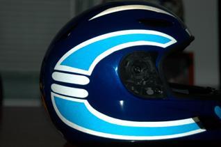 Streetglo Custom Decal Designs By Our Customers - Motorcycle half helmet decals