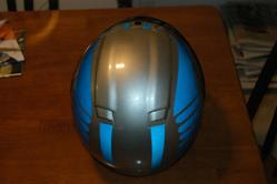 1/2 helmet with Helmet Eyes reflective decals