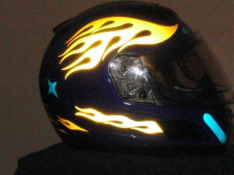 Rear View with Yellow Helmet Eyes Decal