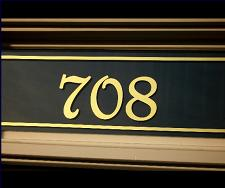 Curb Appeal Transom House Numbers
