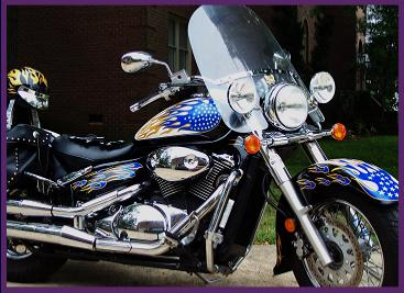 High resolution motorcycle graphics kit in reflective gold blue and white