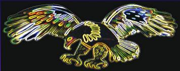 neon eagle reflective safety decal