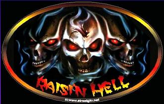 Raising hell safety decal (raisin hell)