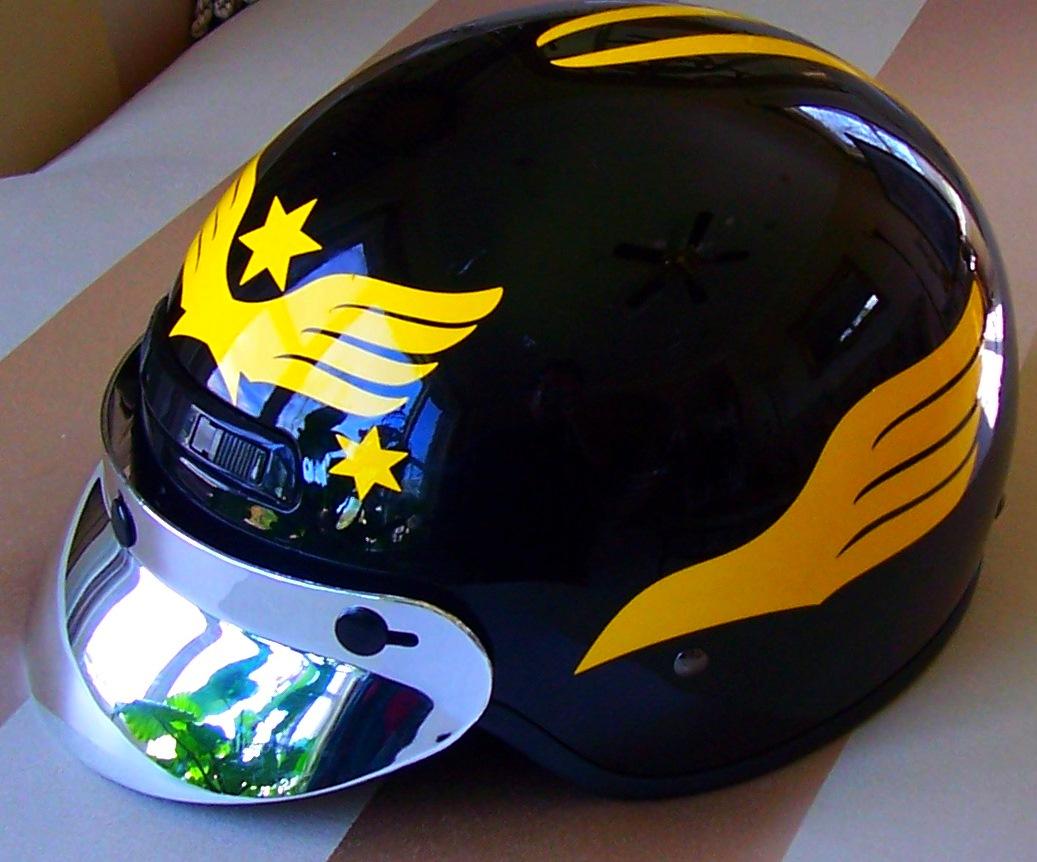 Streetglo Reflective Helmet flame decal and helmet flame ...